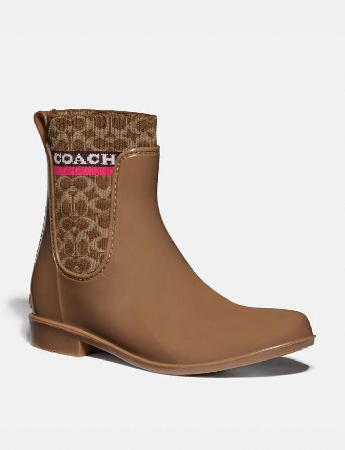 Coach Rivington Rain Bootie Otter Women Shoes Boots & Booties