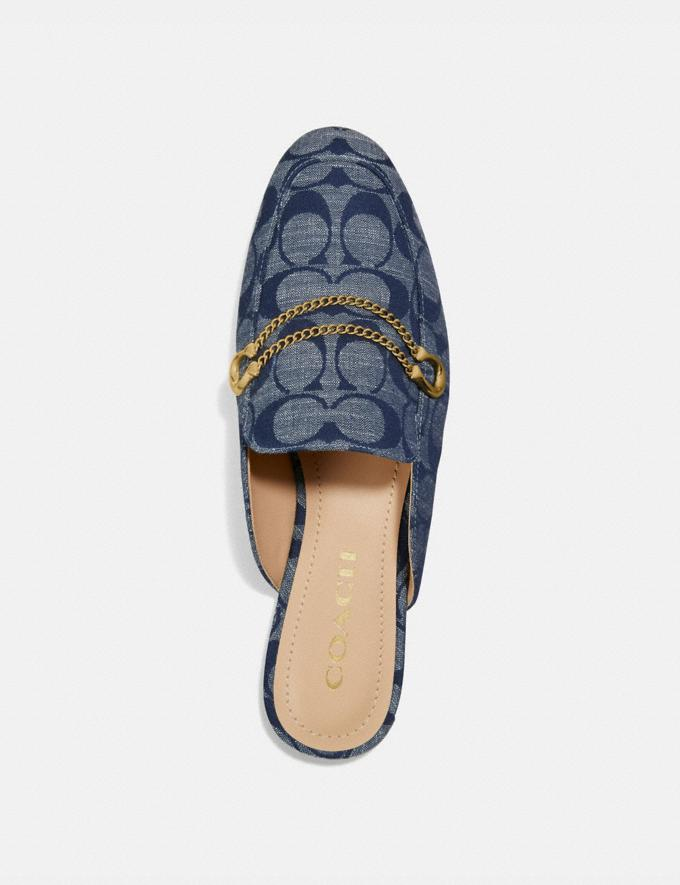 Coach Sawyer Slide Loafer Chambray New Women's New Arrivals Alternate View 2