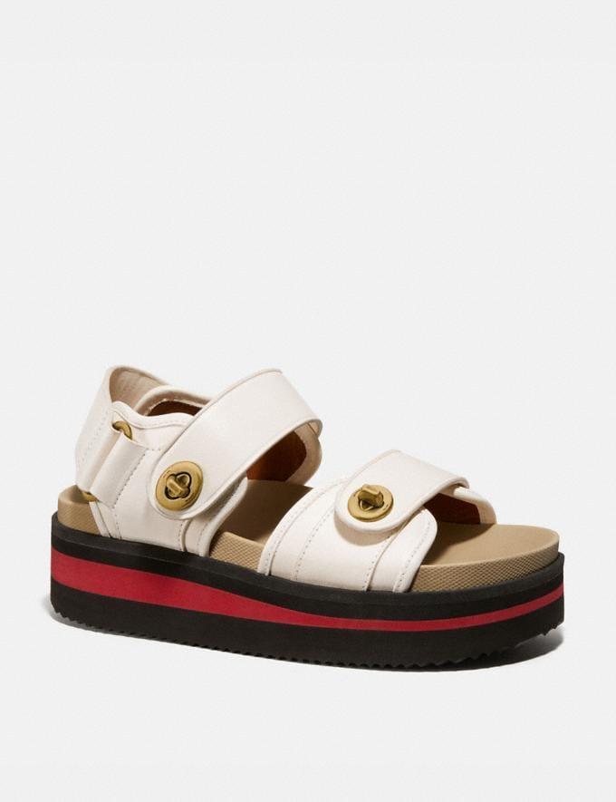 Coach Trail Sandal Chalk Women Shoes Sandals