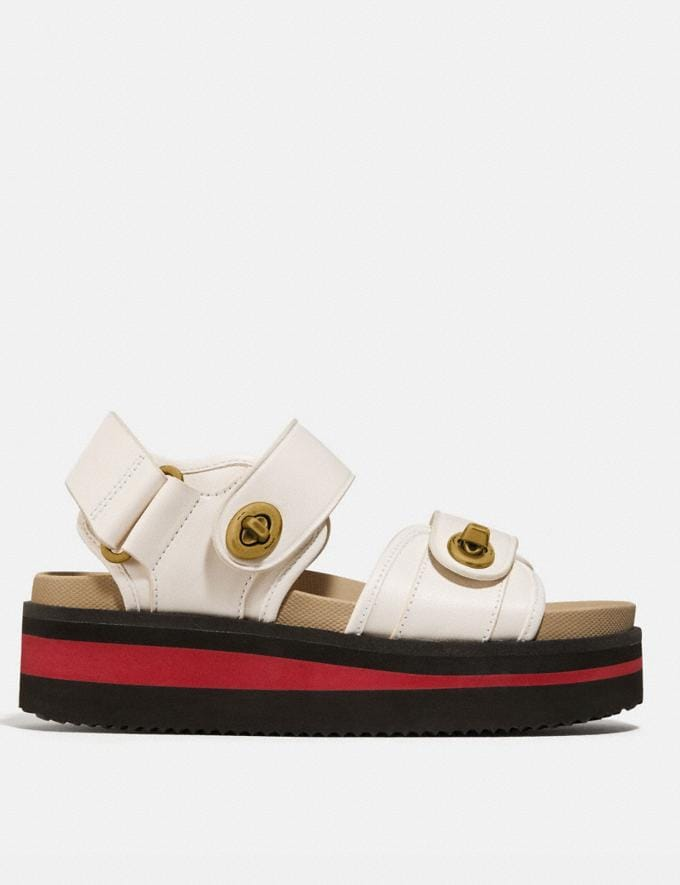 Coach Trail Sandal Chalk New Women's New Arrivals Alternate View 1