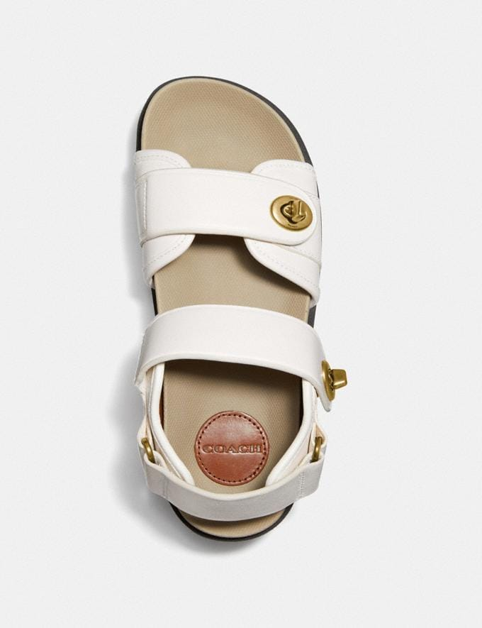 Coach Trail Sandal Chalk New Women's New Arrivals Alternate View 2
