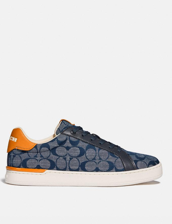 Coach Lowline Low Top Sneaker in Signature Chambray Chambray New Men's New Arrivals Shoes Alternate View 1