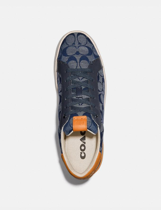 Coach Lowline Low Top Sneaker in Signature Chambray Chambray New Men's New Arrivals Shoes Alternate View 2