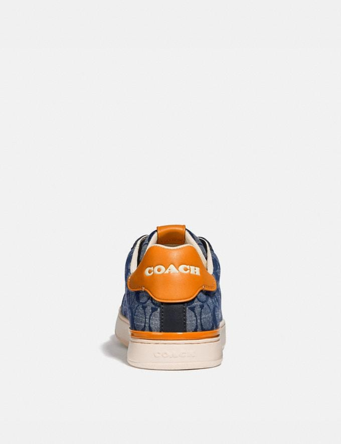 Coach Lowline Low Top Sneaker in Signature Chambray Chambray New Men's New Arrivals Shoes Alternate View 3