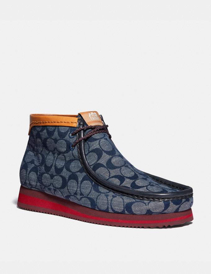 Coach Chukka Boot Chambray New Men's New Arrivals Collection