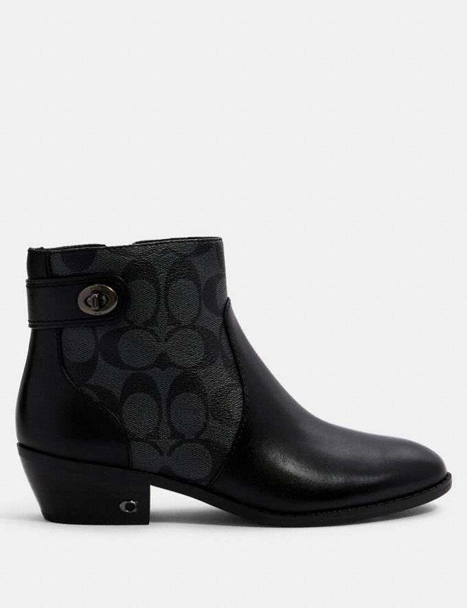 Coach Deni Bootie Black/Coal  Alternate View 1