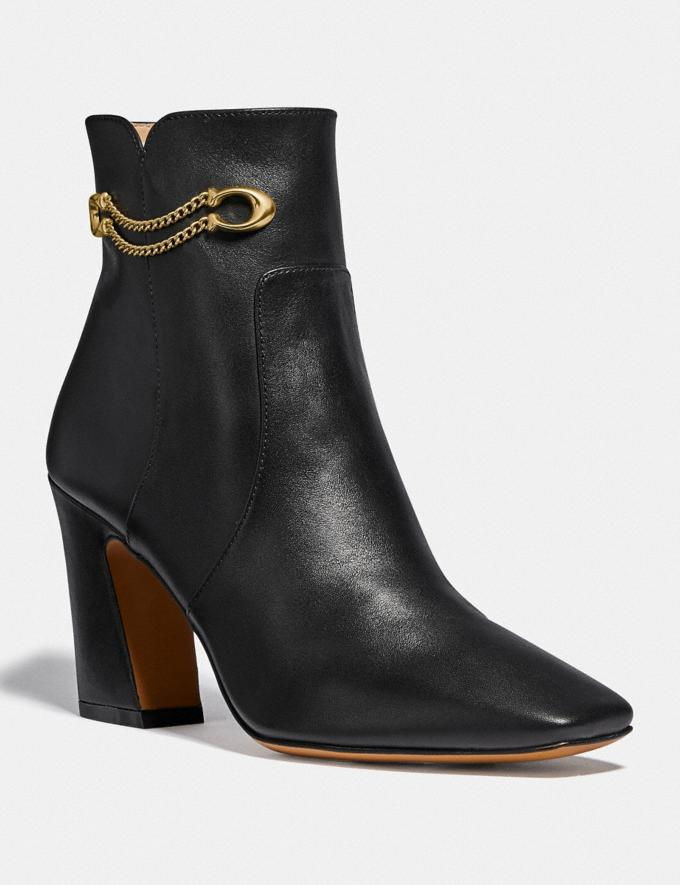 Coach Tessa Bootie Black Women Shoes Boots