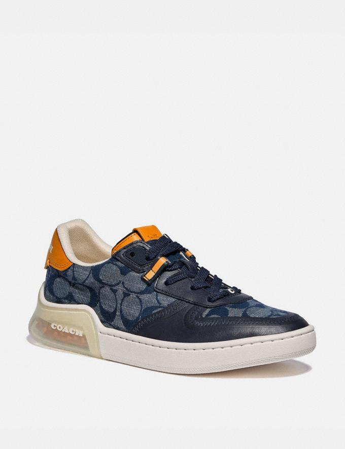 Coach Citysole Court Sneaker Chambray Women Collection Signature