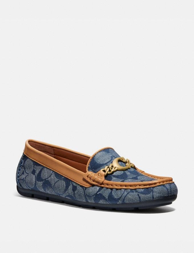 Coach Maegan Driver Chambray Women Shoes Flats