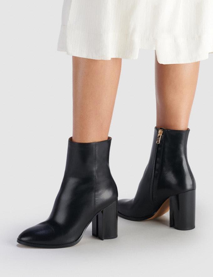 Coach Brielle Bootie Black Women Shoes Boots Alternate View 4