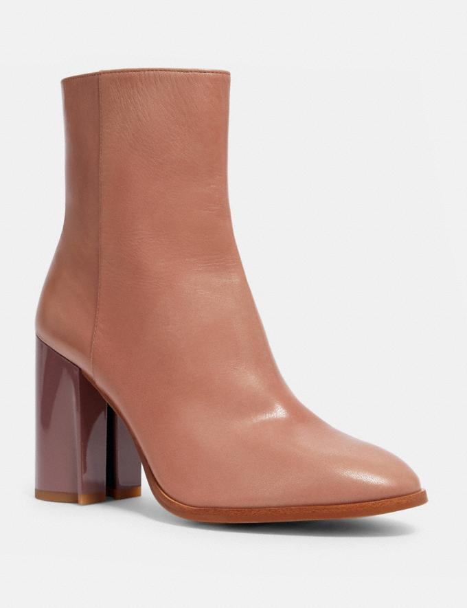 Coach Brielle Bootie Dusty Rose Women Shoes Boots