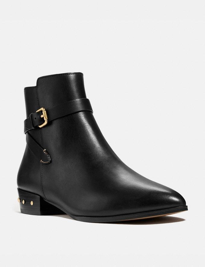 Coach Kaitlin Bootie Black Women Shoes Boots