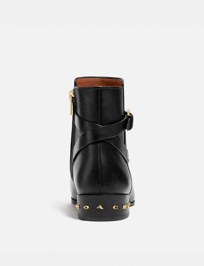 Coach Kaitlin Bootie Black Women Shoes Boots Alternate View 3