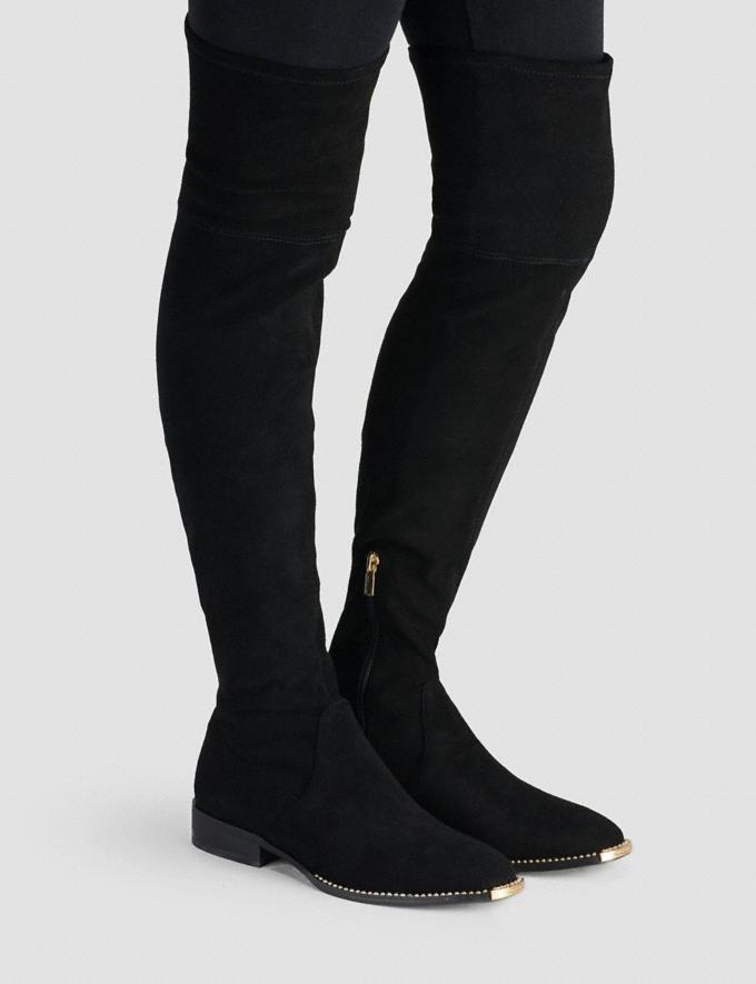 Coach Natalia Boot Black Women Shoes Boots Alternate View 3
