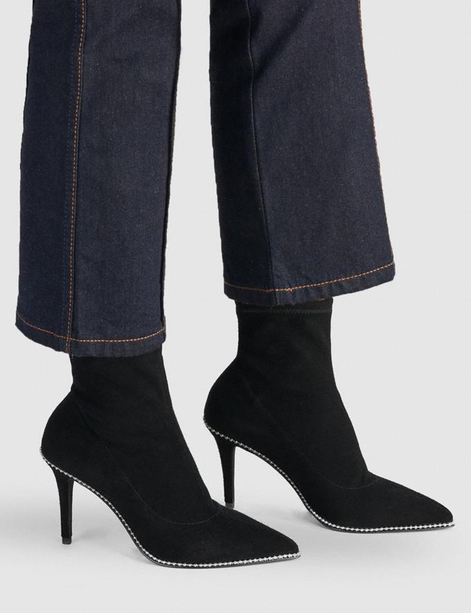 Coach Whitny Bootie Black Women Shoes Boots Alternate View 4
