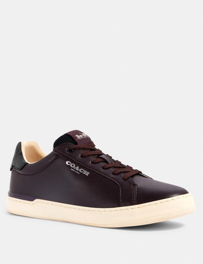 Coach Clip Low Top Sneaker Deep Eggplant Charcoal