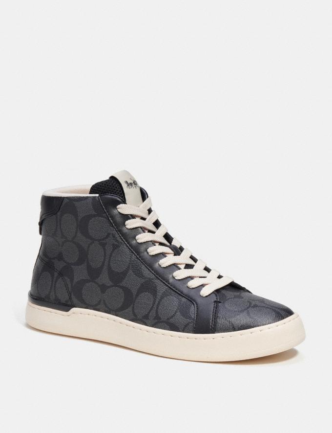 Coach Clip High Top Sneaker Khaki/Saddle