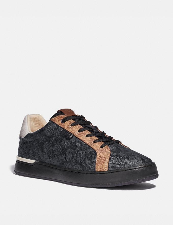 Coach Lowline Low Top Sneaker Charcoal Signature Multi
