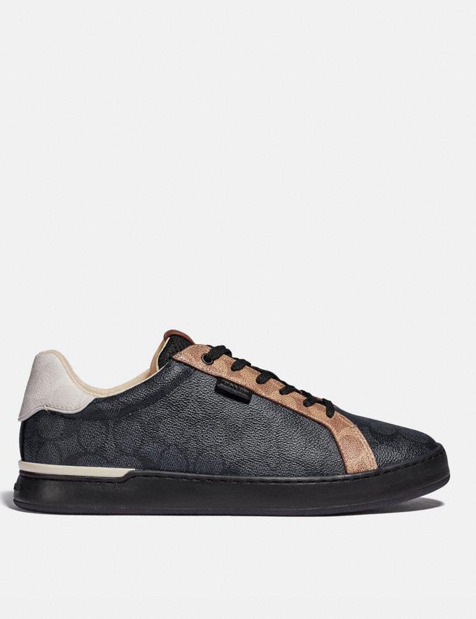 Coach Lowline Low Top Sneaker Charcoal Signature Multi  Alternate View 1