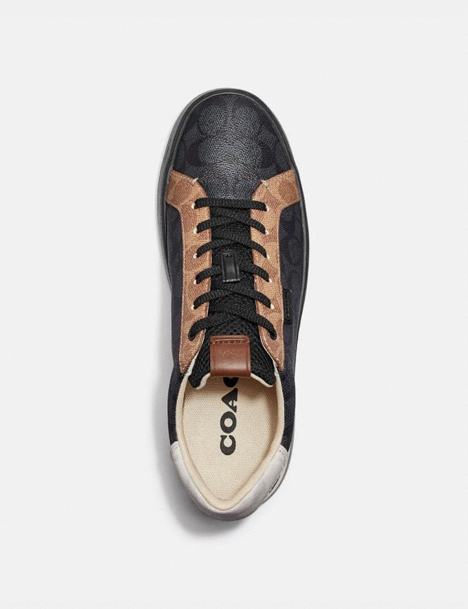 Coach Lowline Low Top Sneaker Charcoal Signature Multi  Alternate View 2