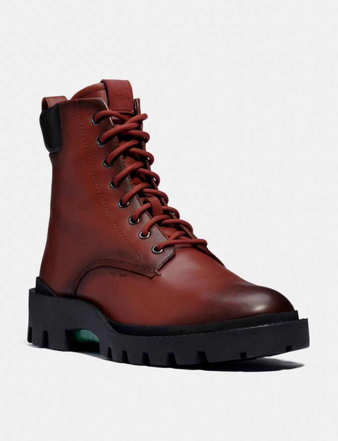 Coach Citysole Boot Red Mocha Men Shoes Boots