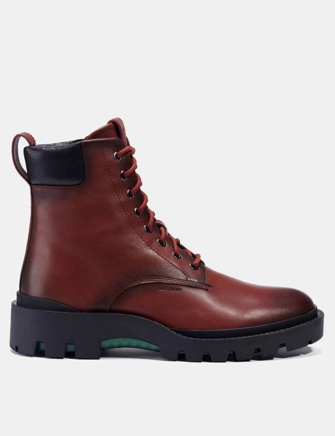 Coach Citysole Boot Red Mocha Men Shoes Boots Alternate View 1