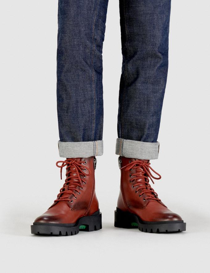 Coach Citysole Boot Red Mocha Men Shoes Boots Alternate View 3