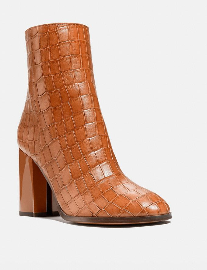 Coach Brielle Bootie Burnished Amber Women Shoes Boots & Booties
