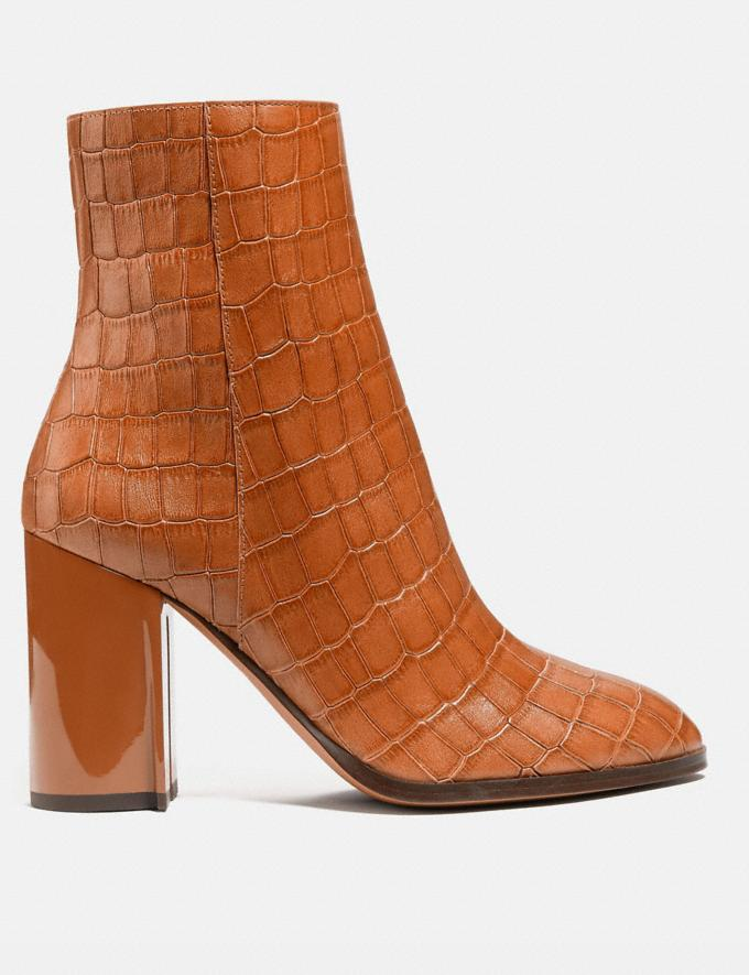Coach Brielle Bootie Burnished Amber Women Shoes Boots & Booties Alternate View 1