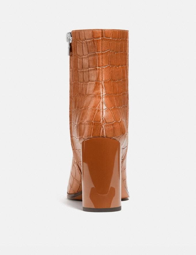 Coach Brielle Bootie Burnished Amber Women Shoes Boots & Booties Alternate View 3