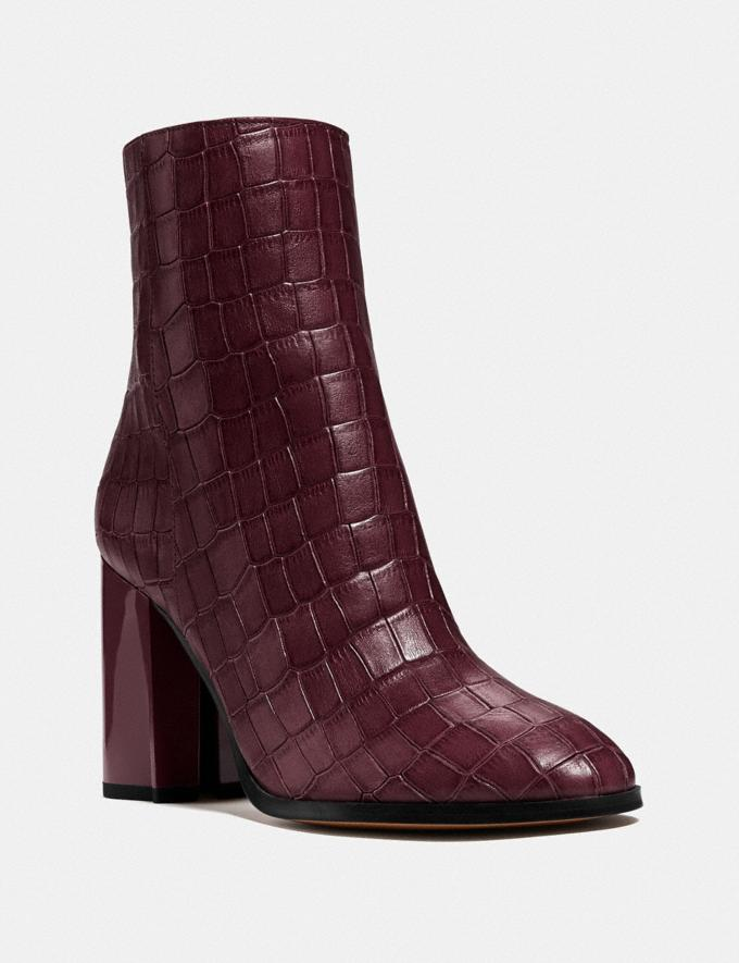 Coach Brielle Bootie Dark Cranberry Women Shoes Boots