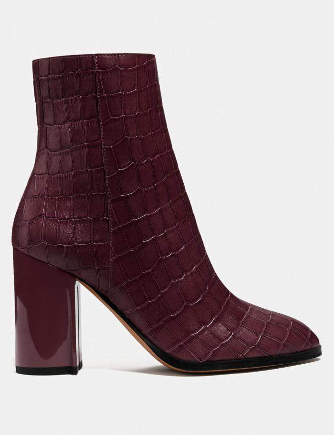 Coach Brielle Bootie Dark Cranberry Damen Schuhe Stiefel Alternative Ansicht 1