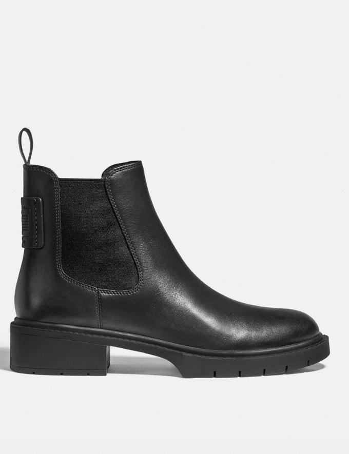 Coach Lyden Bootie Black Women Shoes Boots & Booties Alternate View 1