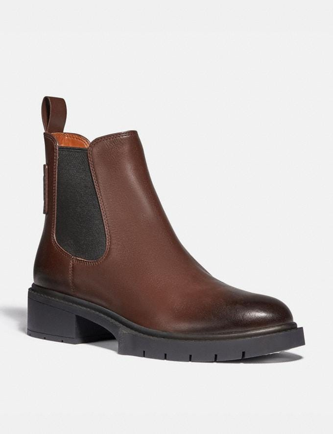 Coach Lyden Bootie Walnut Women Shoes Boots & Booties