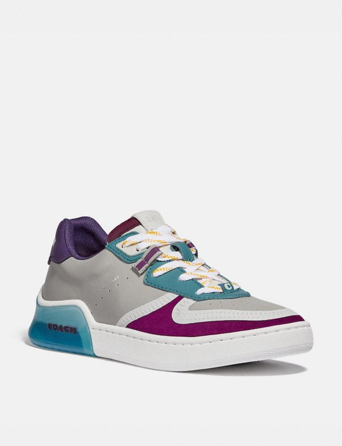 Coach Citysole Court Sneaker Washed Steel/Magenta Women Shoes Must-Have Must-have