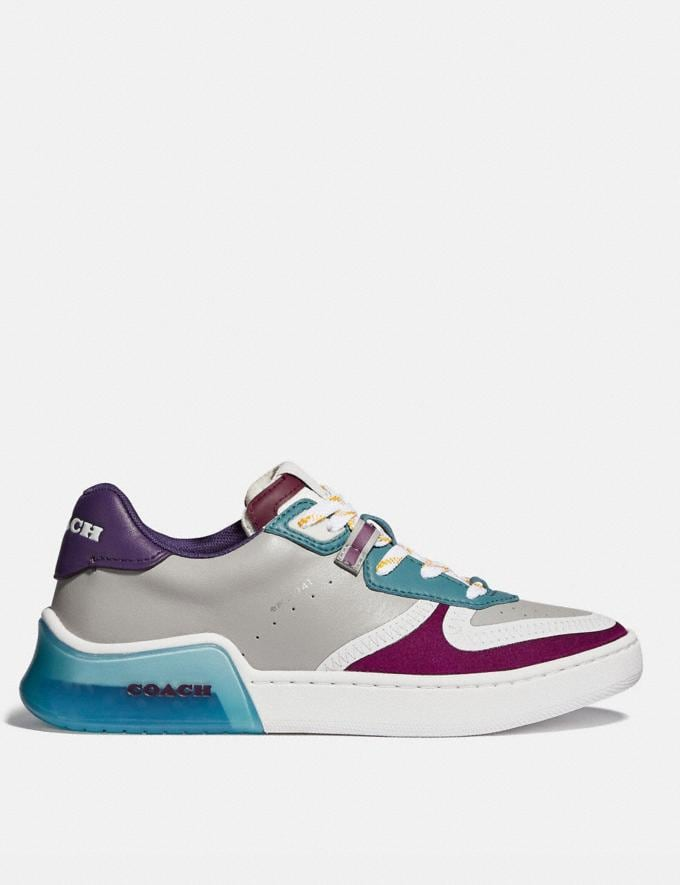 Coach Citysole Court Sneaker Washed Steel/Magenta Women Shoes Must-Have Must-have Alternate View 1