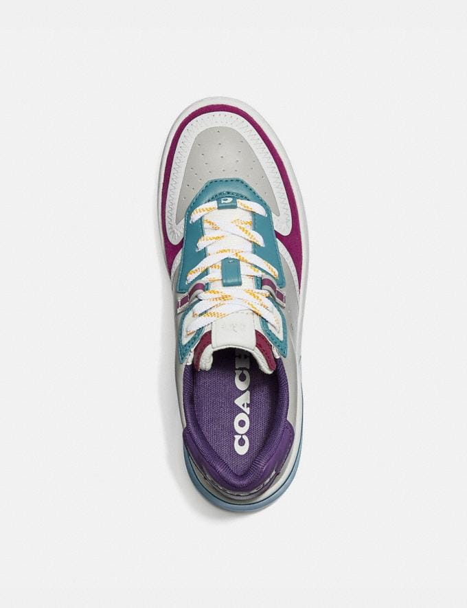 Coach Citysole Court Sneaker Washed Steel/Magenta Women Shoes Must-Have Must-have Alternate View 2