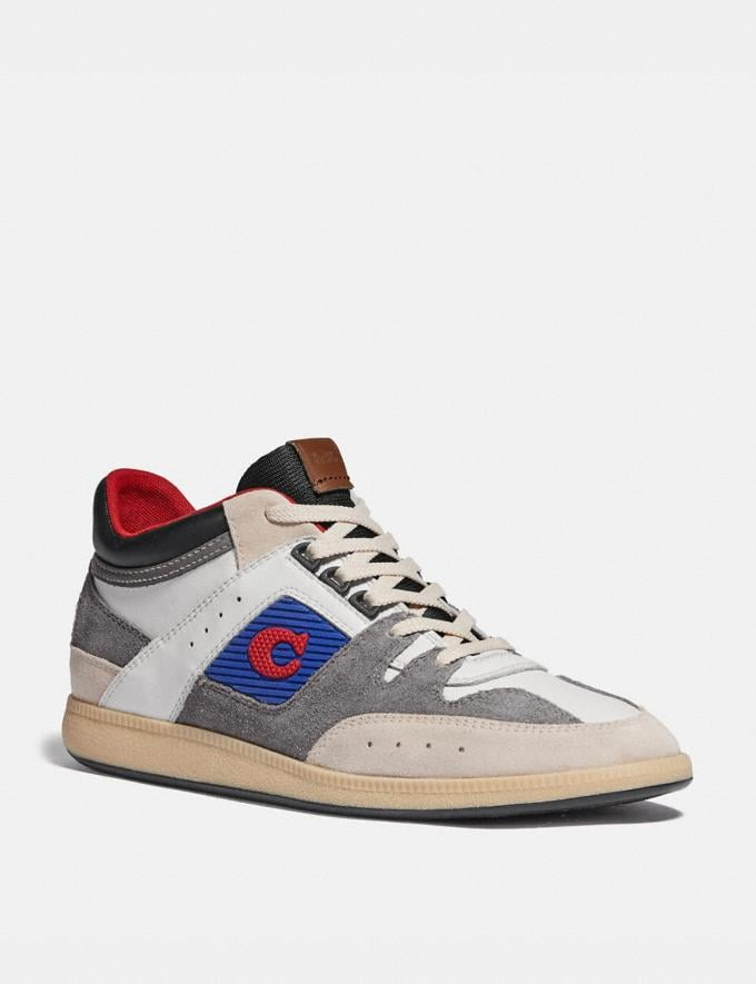 Coach Citysole Mid Top Sneaker Chk/Hthr Gry Men Shoes Trainers