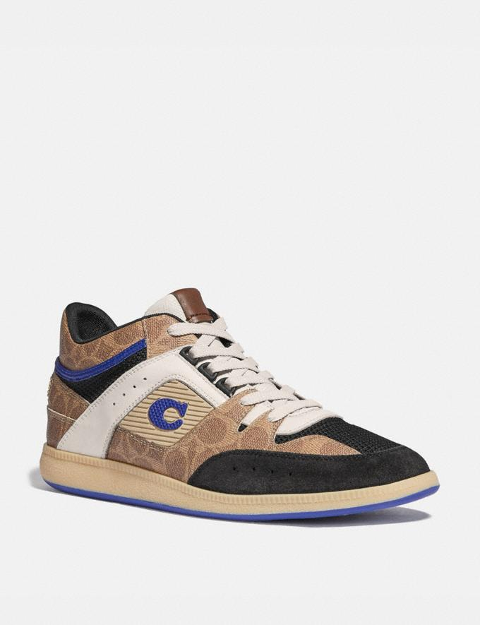 Coach Citysole Mid Top Sneaker Sg Tan/Blk Sph Men Shoes Trainers