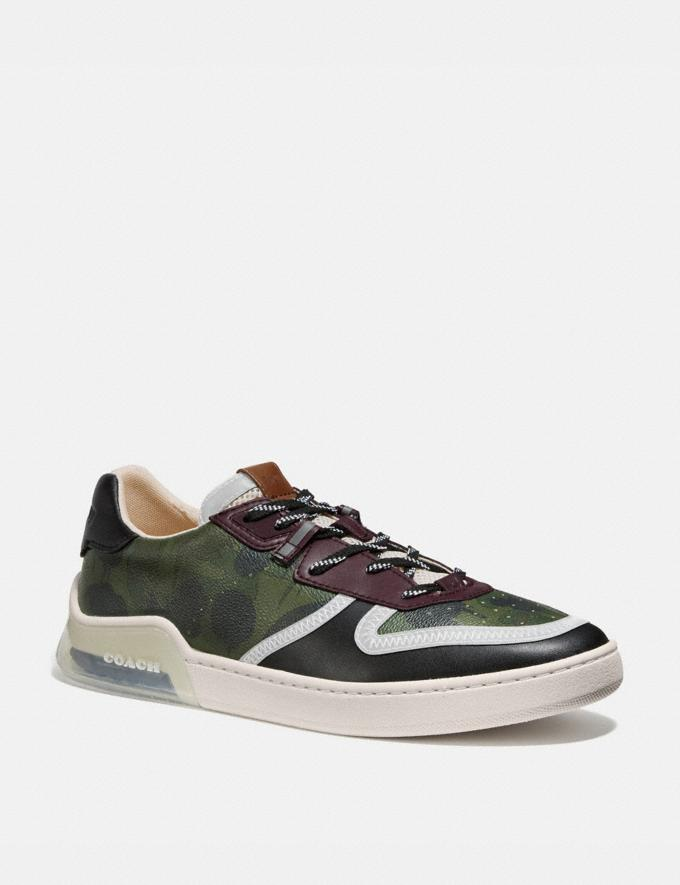 Coach Citysole Court Sneaker With Wild Beast Print Wild Beast Military