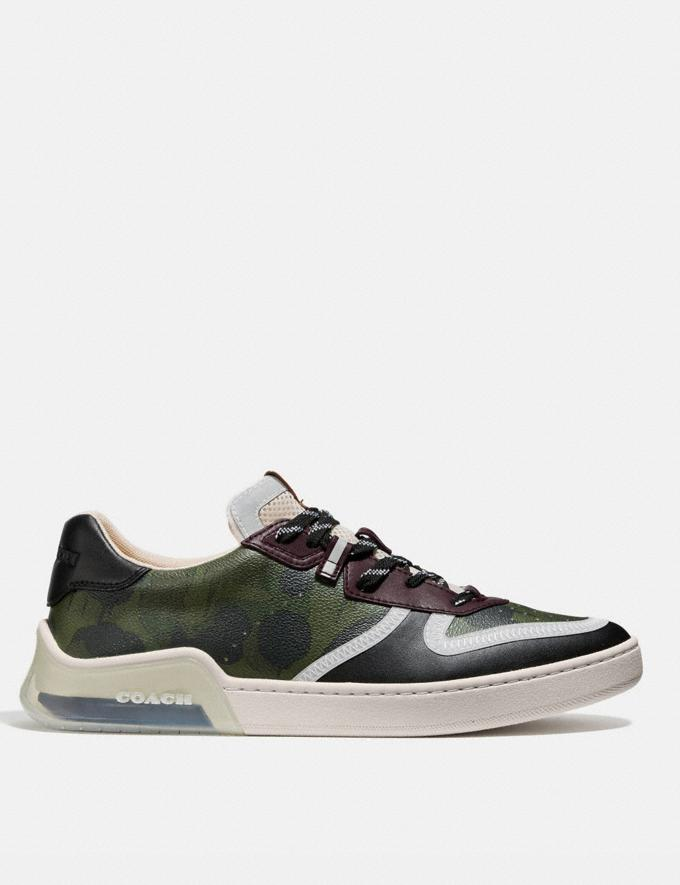 Coach Citysole Court Sneaker With Wild Beast Print Wild Beast Military  Alternate View 1