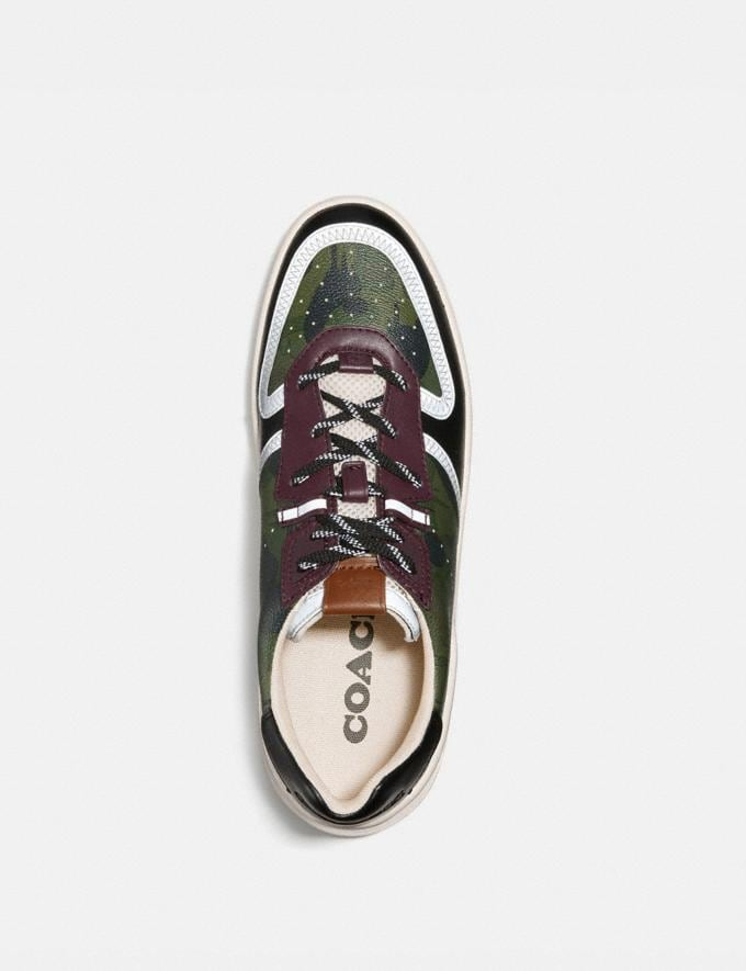 Coach Citysole Court Sneaker With Wild Beast Print Wild Beast Military  Alternate View 2