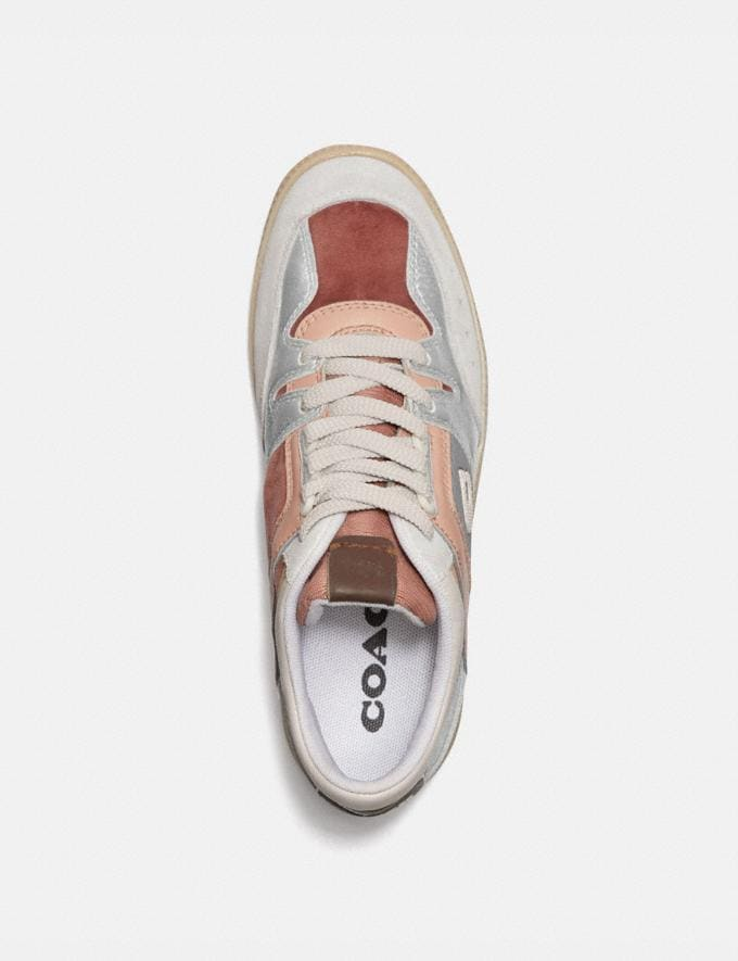 Coach Citysole Mid Top Sneaker Silver/Pale Blush Women Shoes Trainers Alternate View 2