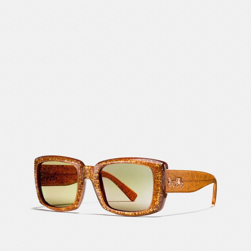 QUINN RECTANGLE SUNGLASSES WITH GLITTER