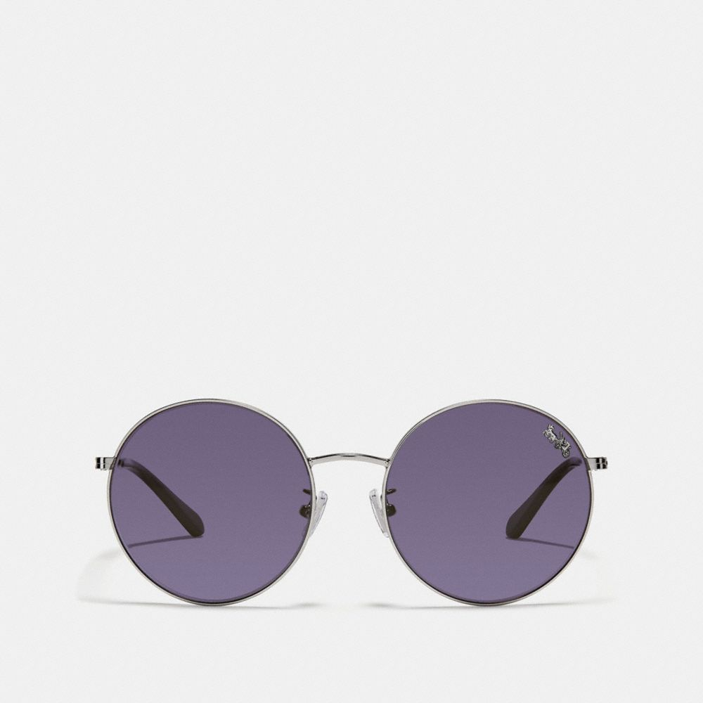 Coach Thin Metal Round Sunglasses Alternate View 2