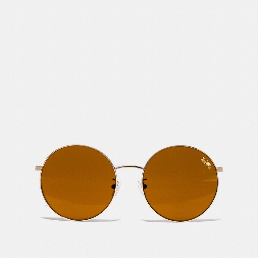 Coach Thin Metal Round Sunglasses Alternate View 2