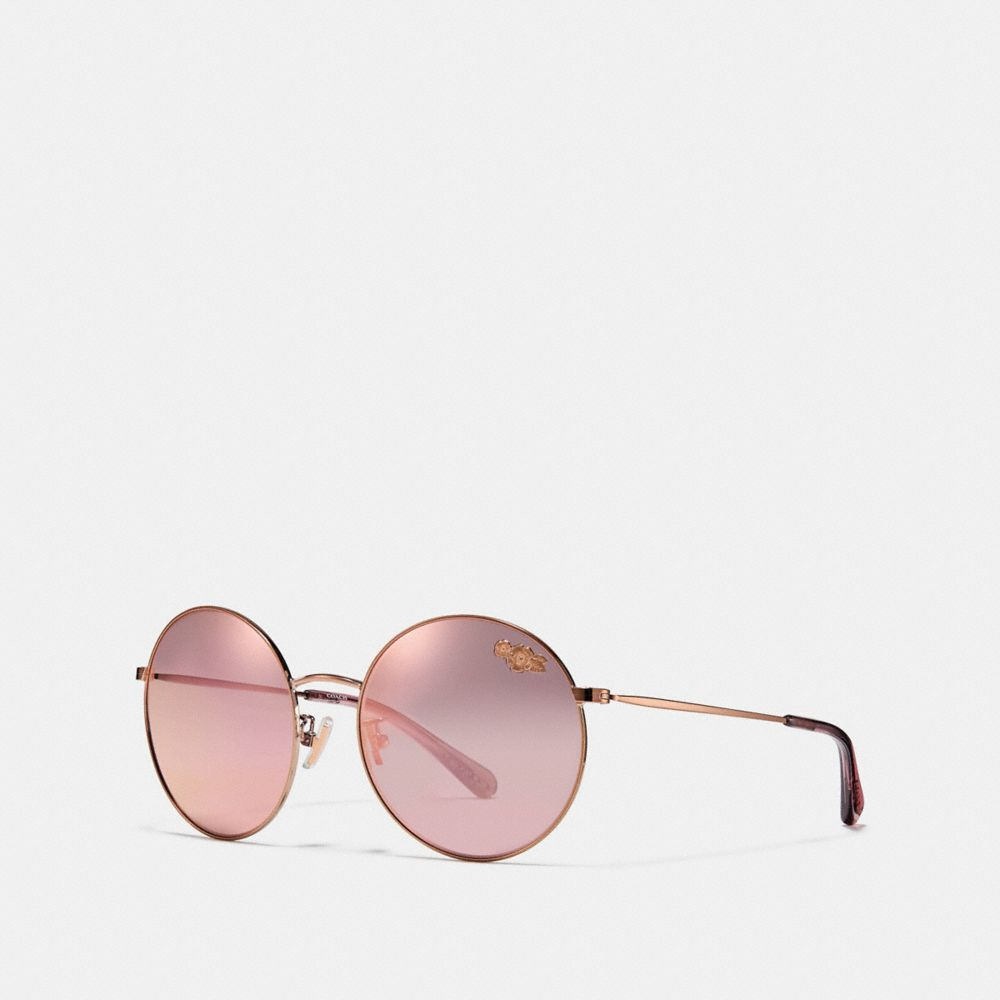 Coach Thin Metal Round Sunglasses