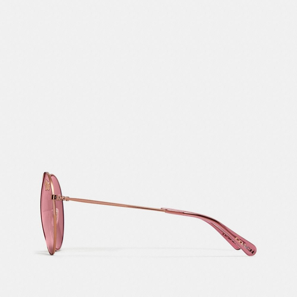 Coach Thin Metal Round Sunglasses Alternate View 3