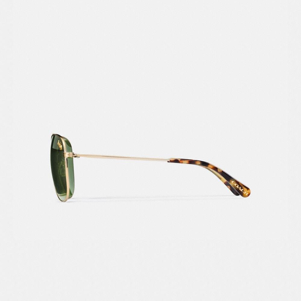 Coach Thin Metal Pilot Sunglasses Alternate View 3