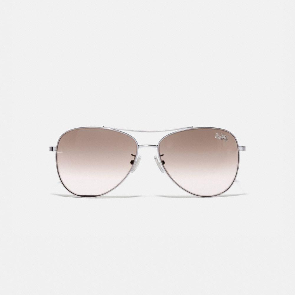 Coach Thin Metal Pilot Sunglasses Alternate View 2